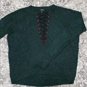 Dark green knit sweater from Express!